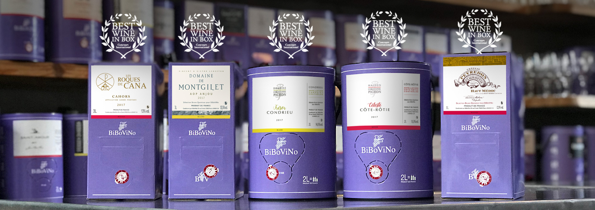 """Médailles d'or concours international """"Best Wine in Box 2019"""""""